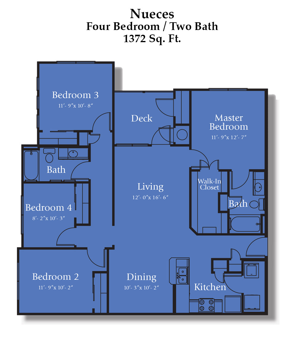 Cypress Creek Apartment Homes at Jason Avenue - Nueces Floorplan
