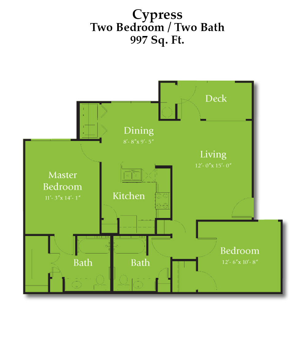 Cypress Creek Apartment Homes at Lakeline Blvd. - Cypress Floorplan