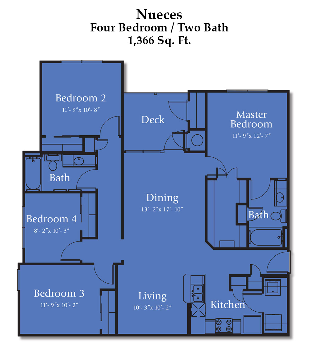 Reed Road Nueces Floorplan
