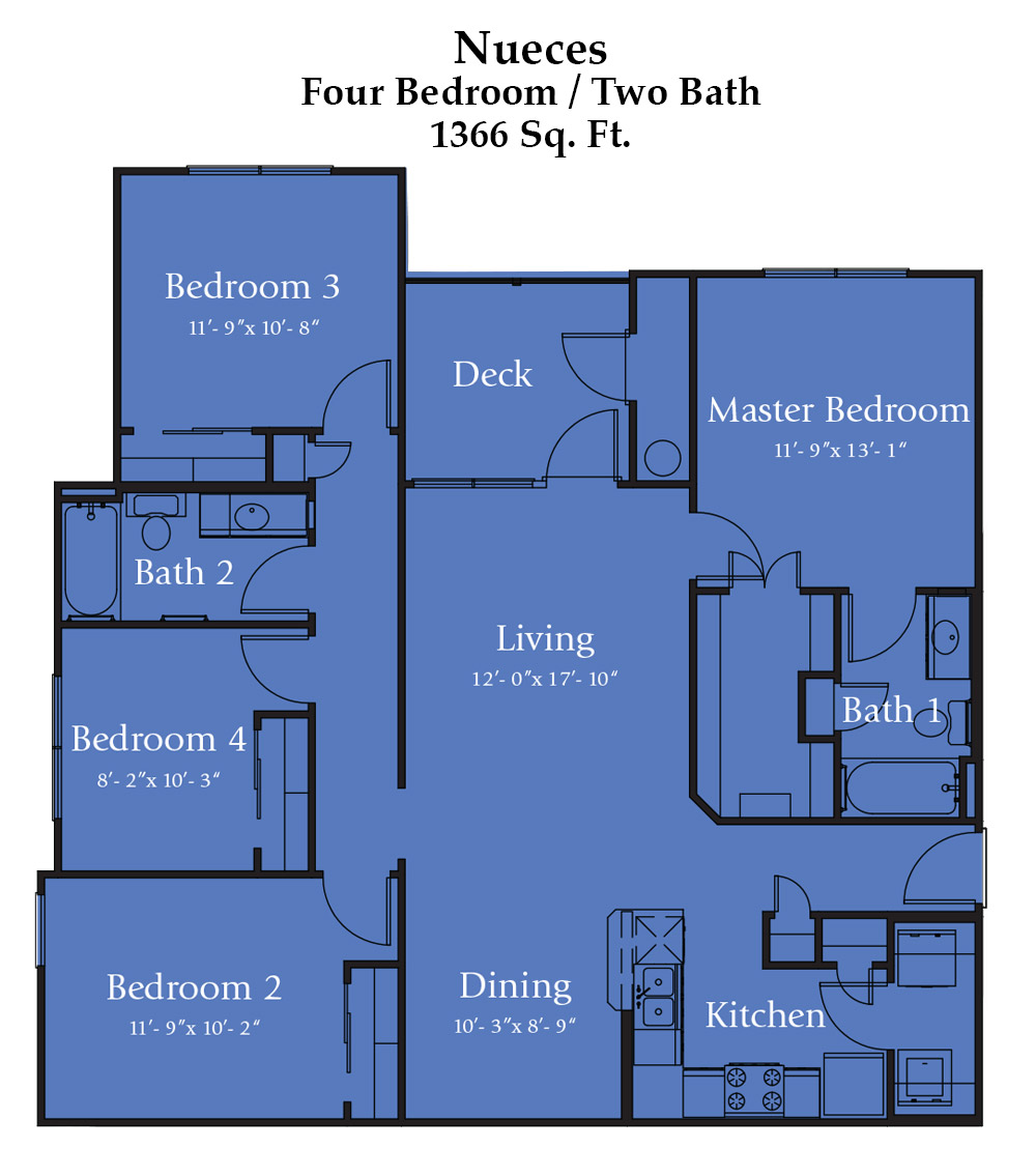 River Bend Nueces - Floor Plan