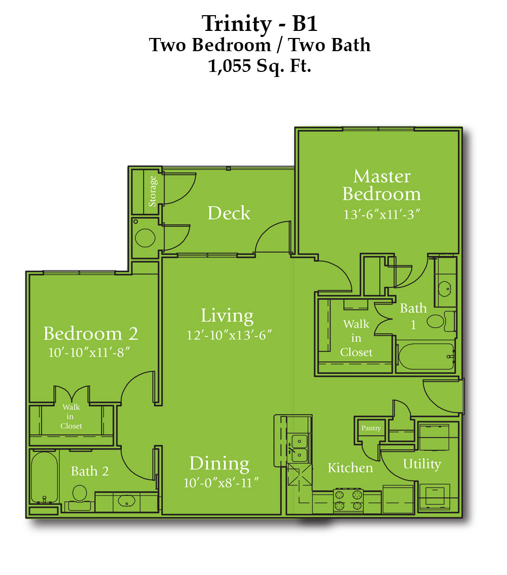 Parker Boulevard Trinity Floor Plan
