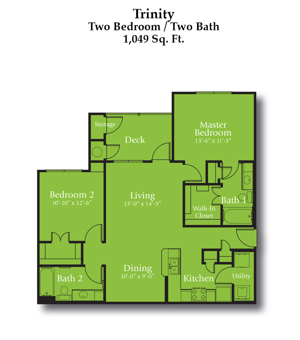 Cypress Creek Apartment Homes at Jason Avenue - Trinity Floorplan