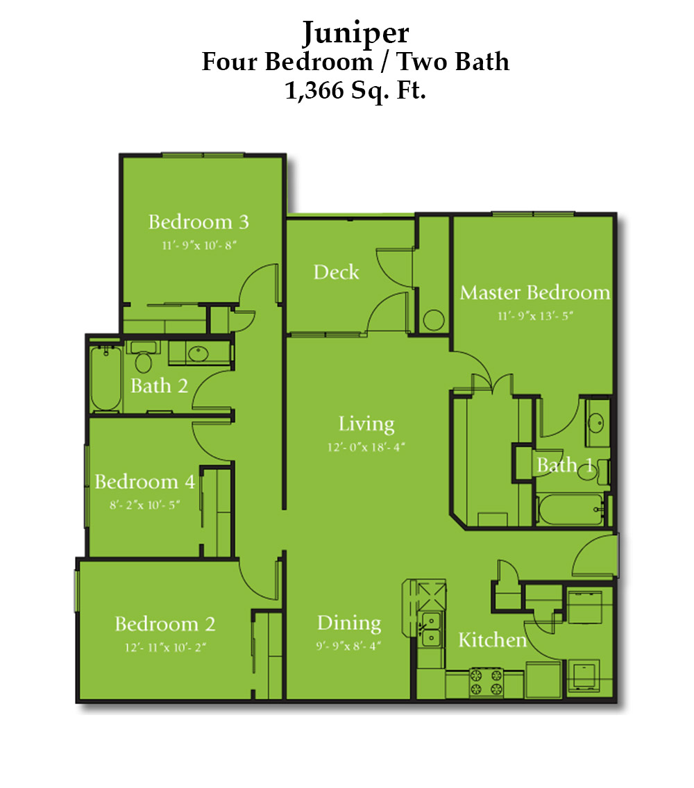 Cypress Creek Apartment Homes at Lakeline Blvd. - Juniper Floorplan