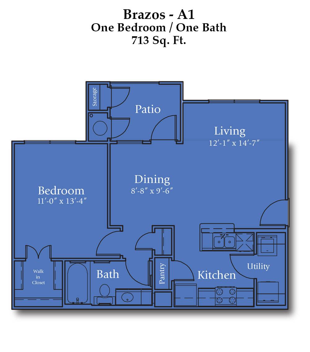Parker Boulevard Brazos Floor Plan