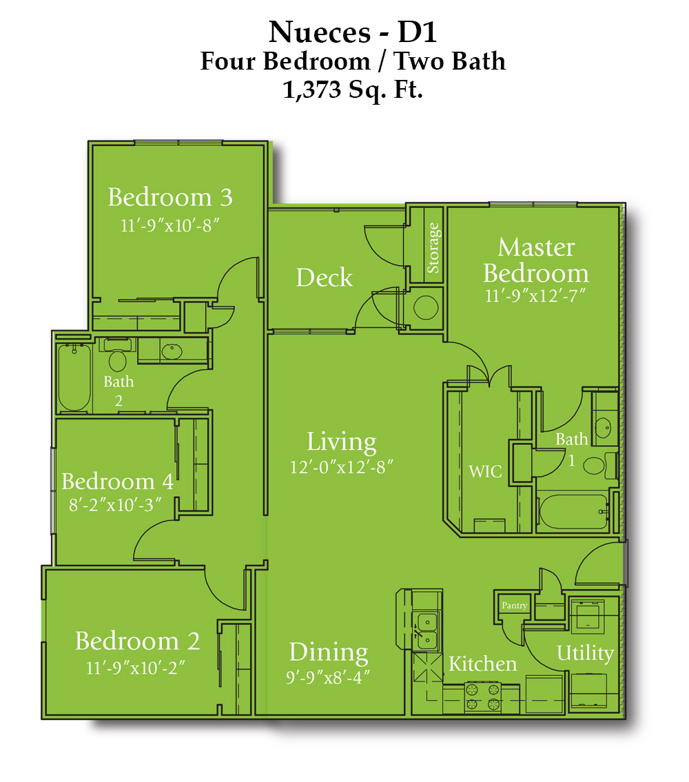 Parker Boulevard Nueces Floor Plan