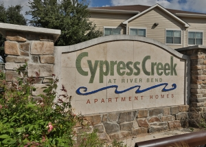 Cypress Creek Apartment Homes at River Bend - Sign